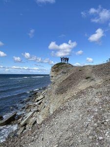 Gruppenbild an der Küste
