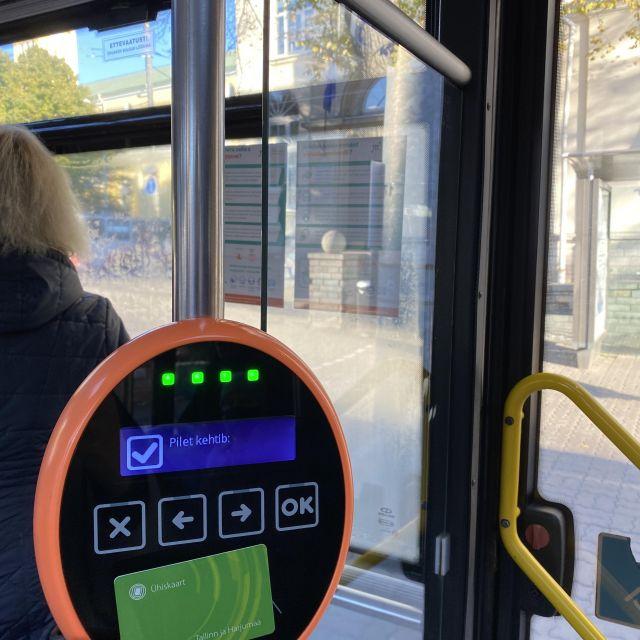 Terminal im Bus