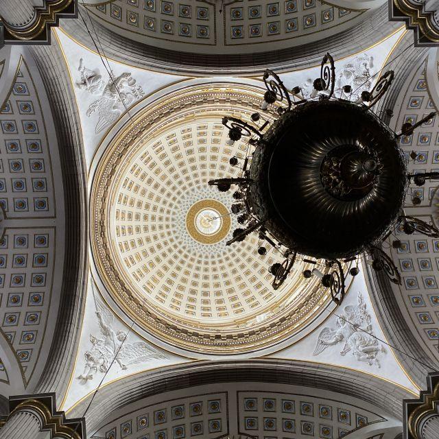 Kuppel und Deckenschmuck in der Kathedrale von Puebla.