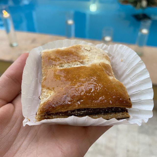 Hojaldras, ein typisches Gebäck aus Veracruz, gefüllt mit Schinken und Käse.