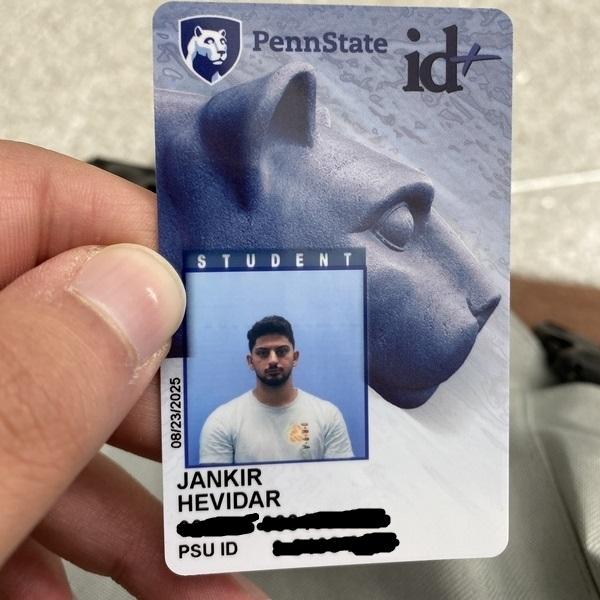 Meine Studentenkarte von der Penn State.