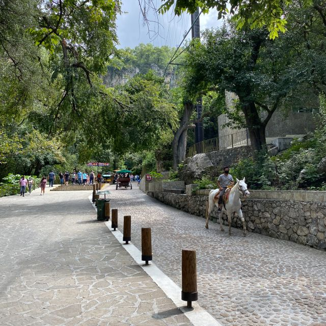 Weg mit Pferd und Reiter