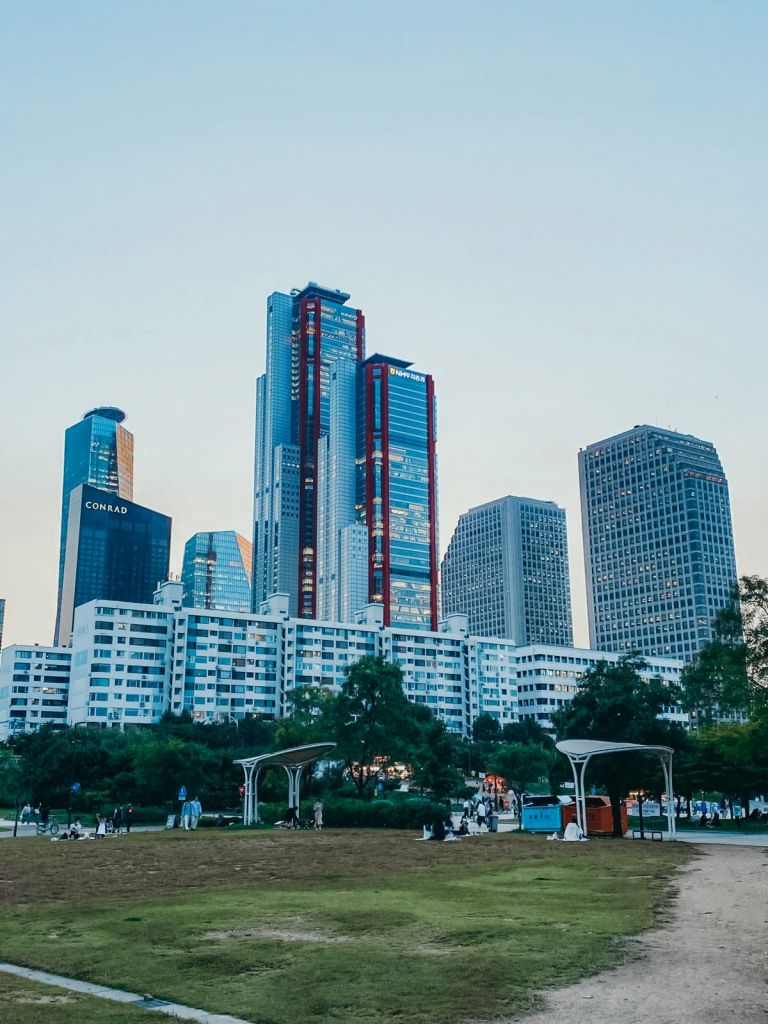 Blick auf Seoul in Yeouido