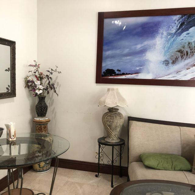 Das Wohnzimmer in Victorias Airbnb